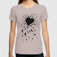 Heart Womens Fitted Tee Cinder SMALL
