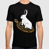 Follow The White Rabbit Mens Fitted Tee Black SMALL