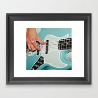 Mr Bassman Guitar Fracta… Framed Art Print