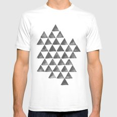 TRiangles SMALL Mens Fitted Tee White