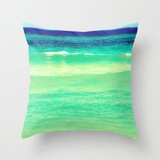layers of blue Throw Pillow