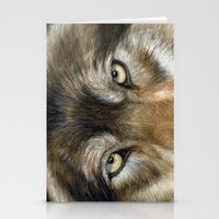 Wolf eyes Stationery Cards