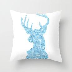Hello, Deer Throw Pillow