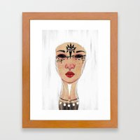 Happy Halloween - White … Framed Art Print