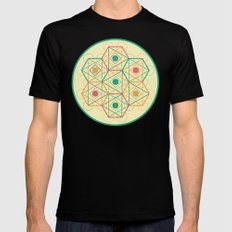 Yey! Shapes!  SMALL Mens Fitted Tee Black