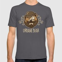 Urbane Bear Mens Fitted Tee Asphalt SMALL