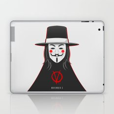 V for vendetta November 5 Minimal Poster Laptop & iPad Skin
