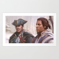 Assassin's Creed 3 - Connor and Haytham Art Print