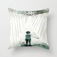 so lonely and so lost... Throw Pillow