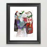 Groupuscule Moinards Framed Art Print