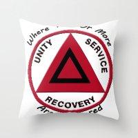 Alcoholics Anonymous Throw Pillow