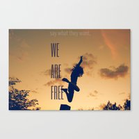 FREE (with Text) Canvas Print