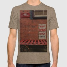 Vintage Railway Signs Mens Fitted Tee Tri-Coffee SMALL