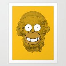 Homer's Odyssey Art Print