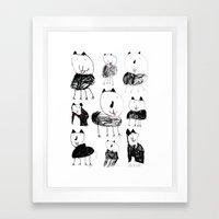 Jack Drew His Cat Framed Art Print