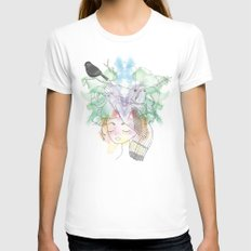 Au Printemps Womens Fitted Tee White SMALL