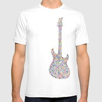 guitar / guitarra Mens Fitted Tee White SMALL