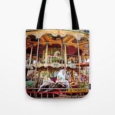 Double Decker Carnival Carousel  Tote Bag