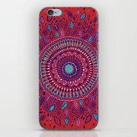 Red And Blue Mandala  iPhone & iPod Skin