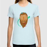 Ghost Beard Womens Fitted Tee Light Blue SMALL