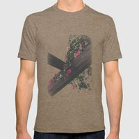 Wooden & Flowers Mens Fitted Tee Tri-Coffee SMALL