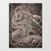 the Lernaean Hydra art print Canvas Print