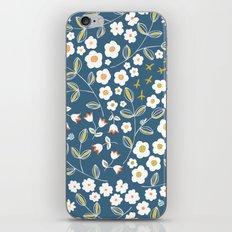 Ditsy Blue iPhone & iPod Skin