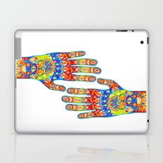 A really colourful hand Laptop & iPad Skin