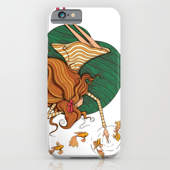 Girl and fish iPhone & iPod Case