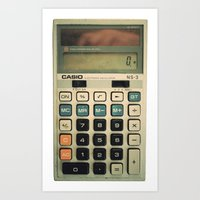 Calculator Art Print