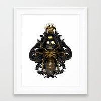 Black stress Framed Art Print