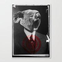 Koala Yawn Canvas Print