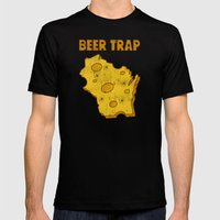 Beer Trap Mens Fitted Tee Black SMALL