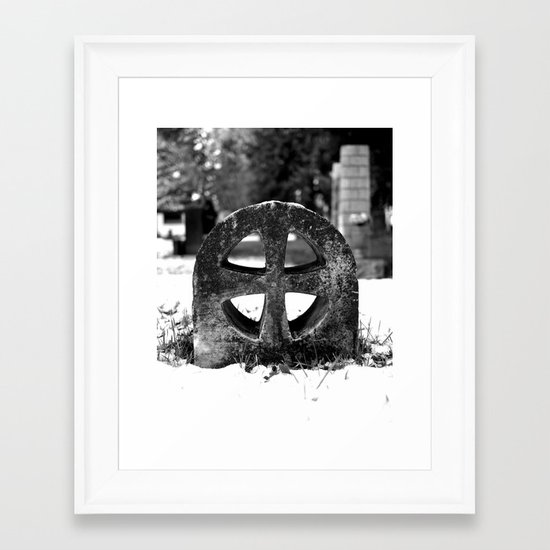 Winter cross Framed Art Print