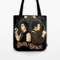 Duel in Space Tote Bag