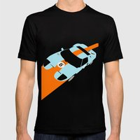 Orange Notch - Ford GT40 Race Car Mens Fitted Tee Black SMALL