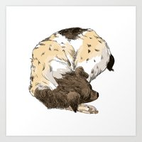 Art Print featuring Sleeping Dog #002 by Les Gordon