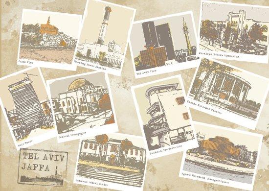 vintage tel aviv Art Print