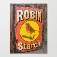 Robin Starch Canvas Print