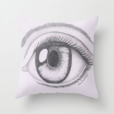 Keep your eyes open and see.... Throw Pillow