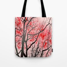 The Trees Know (red-blac… Tote Bag