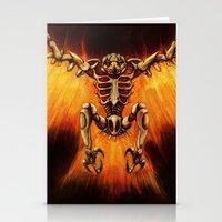 Mecha-Phoenix Stationery Cards