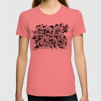Creative Pet Project 001 Womens Fitted Tee Pomegranate SMALL