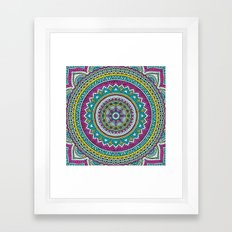 Hippie mandala 31 Framed Art Print