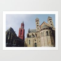 Colorful  Churches Art Print
