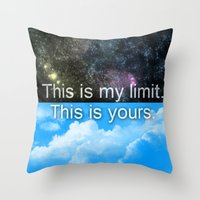 Throw Pillow featuring Know Your Limits by MattXM85