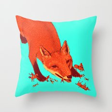Fox Hunting  Throw Pillow