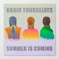 Braid Yourselves Canvas Print