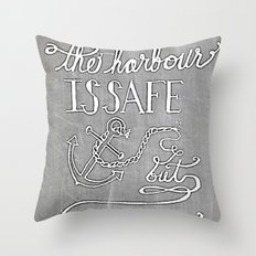 Chalkboard hand-lettered motivational quote Throw Pillow
