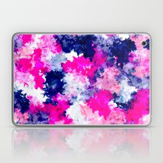 Hand painted pink purple watercolor abstract brushstrokes  Laptop & iPad Skin